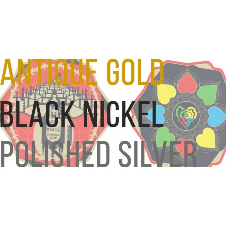 Pack das 3 Coins (antique gold+black nickel+polished silver)